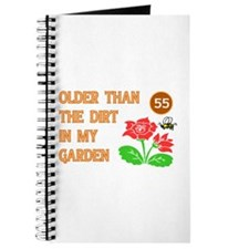 Gardener's 55th Birthday Journal