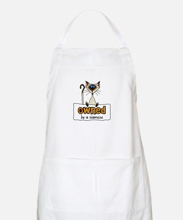 owned by a siamese BBQ Apron