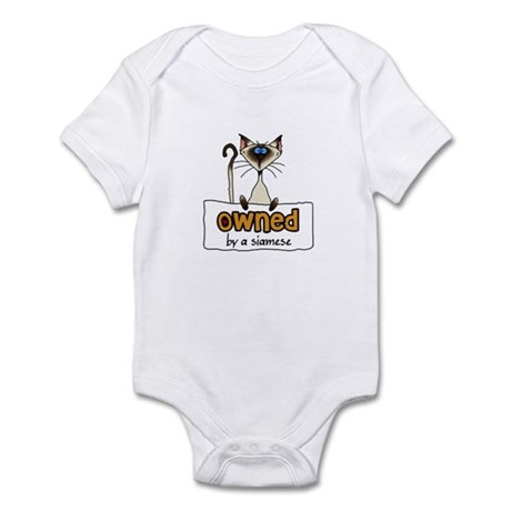 owned by a siamese Infant Bodysuit