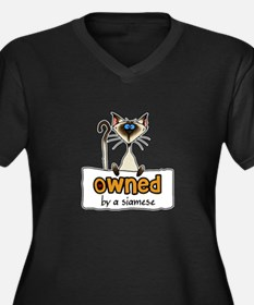 owned by a siamese Women's Plus Size V-Neck Dark T