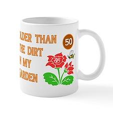 Gardener's 50th Birthday Small Mug
