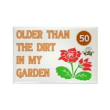 Gardener's 50th Birthday Rectangle Magnet
