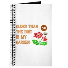 Gardener's 50th Birthday Journal