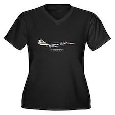 F-104 Starfighter Women's Plus Size V-Neck Dark T-