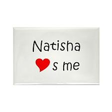 Funny Natisha Rectangle Magnet