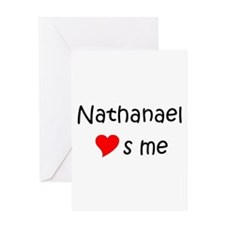 Unique Nathanael Greeting Card
