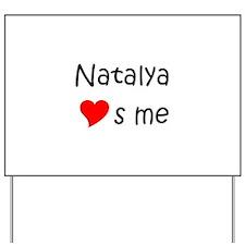 Unique Natalya Yard Sign