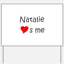 Unique Natalie Yard Sign
