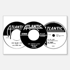 Atlantic R&B Montage Rectangle Decal
