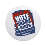 Obama-Biden America's Future Xmas Tree Ornament