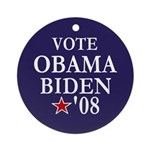 Vote Obama Biden Tree Ornament