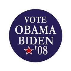 "Vote Obama Biden Big 3.5"" Button"