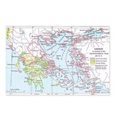 Map of Greece Postcards (Package of 8)