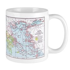 Map of Greece Mug