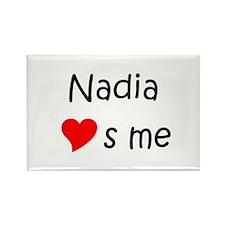 Cool Nadia Rectangle Magnet