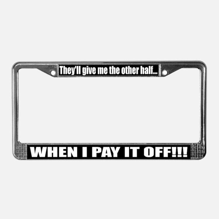 cute smart car license plate frame