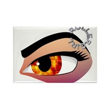 Fire in her eye Rectangle Magnet (100 pack)