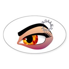 Fire in her eye Oval Decal