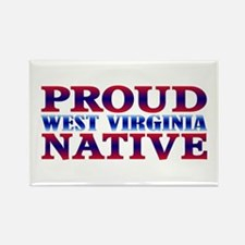 Proud West Virginia Native Rectangle Magnet