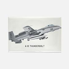 A-10 Thunderbolt Rectangle Magnet