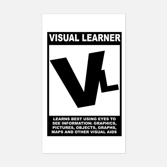 Visual Learner Rectangle Decal