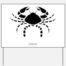 Cancer Zodiac Astrology Tattoo Yard Sign