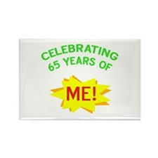 Celebrate My 65th Birthday Rectangle Magnet