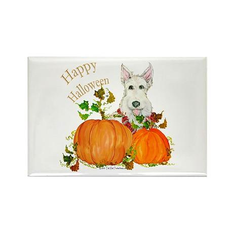 Scottish Terrier Happy Hallow Rectangle Magnet