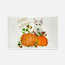 Scottish Terrier Happy Hallow Rectangle Magnet