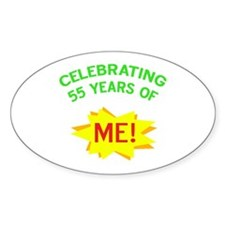 Celebrate My 55th Birthday Oval Decal