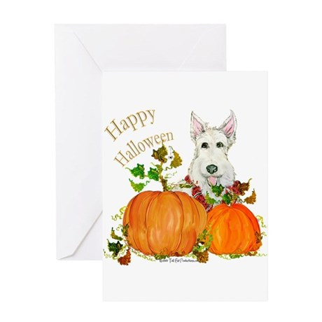 Scottish Terrier Happy Hallow Greeting Card