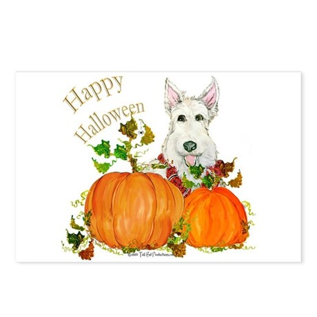 Scottish Terrier Happy Hallow Postcards (Package o