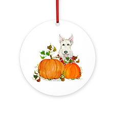 Scottish Terrier Happy Hallow Ornament (Round)