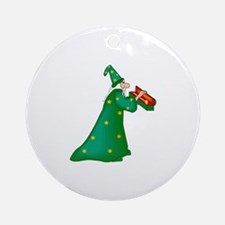 Green witch Ornament (Round)