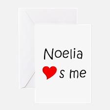 Unique Noelia Greeting Card
