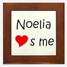 Funny Noelia Framed Tile