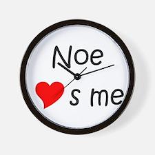Cute Noe Wall Clock