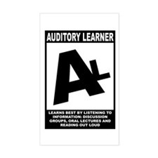 Auditory Learner Rectangle Decal