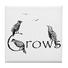 crow design Tile Coaster