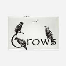 crow design Rectangle Magnet (10 pack)