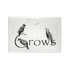 crow design Rectangle Magnet