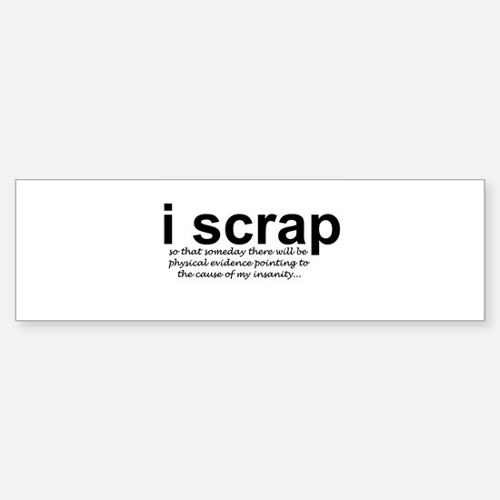 scrapbooking Bumper Car Car Sticker