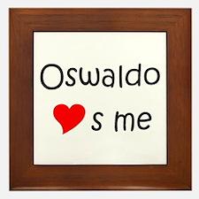 Unique Oswaldo Framed Tile