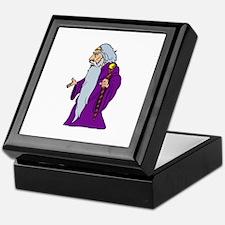 Purple Old Man Keepsake Box