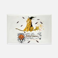 Airedale Terrier Halloween Rectangle Magnet (10 pa