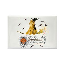 Airedale Terrier Halloween Rectangle Magnet