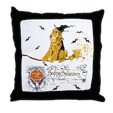 Airedale Terrier Halloween Throw Pillow