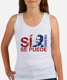 Obama, Si se puede Women's Tank Top
