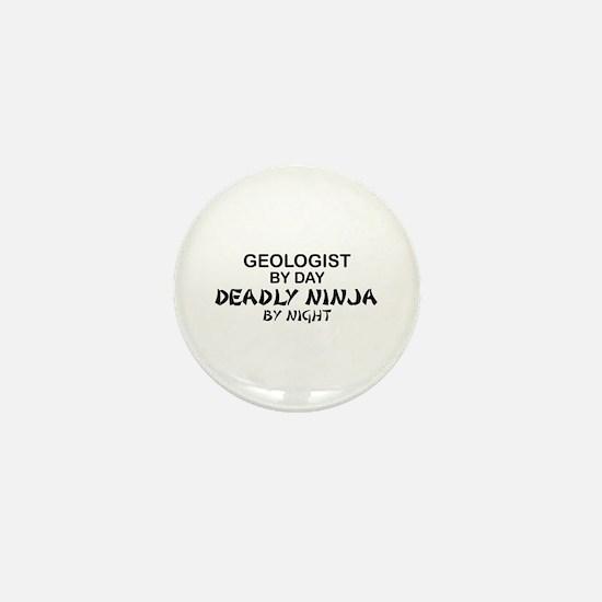 Geologist Deadly Ninja by Night Mini Button