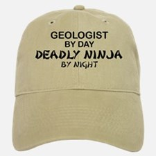 Geologist Deadly Ninja by Night Baseball Baseball Cap